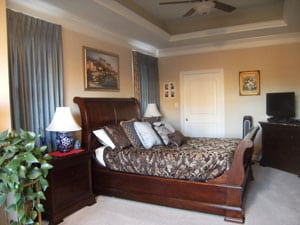 Clean bedroom at a house