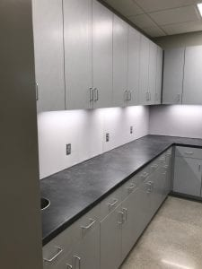 Construction Clean Counters