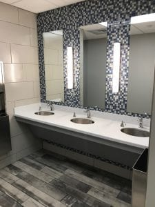 Construction Clean Sinks and Mirrors