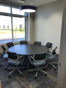 Construction Clean with Round Table Conference Room